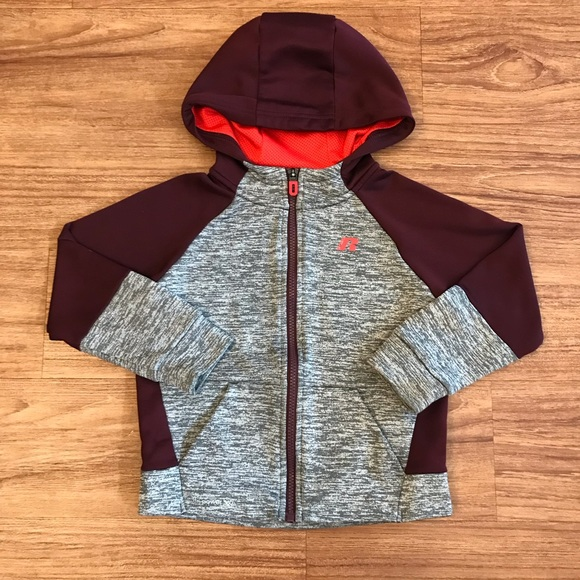 Russell Athletic Other - Russel Boys Hooded Zip Up Jacket XS Gray Maroon